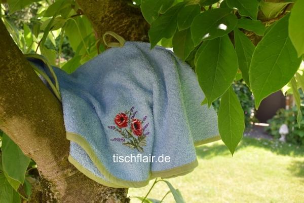 Rundhandtuch Provence 65 cm rund Poppy Lavande bleu clair - hellblau