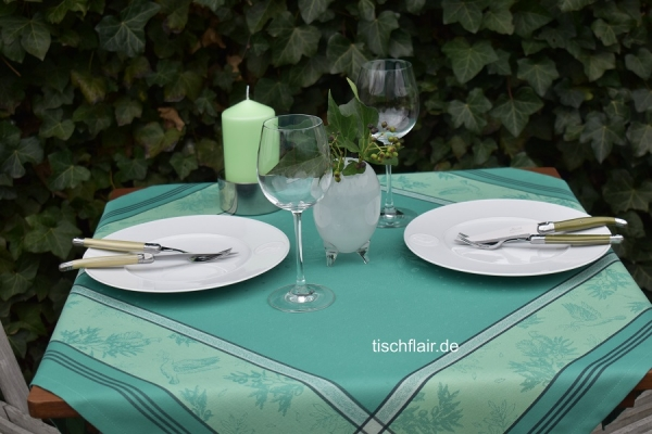 Grün macht glücklich! – Tischdecke Brignol in frischem Grün