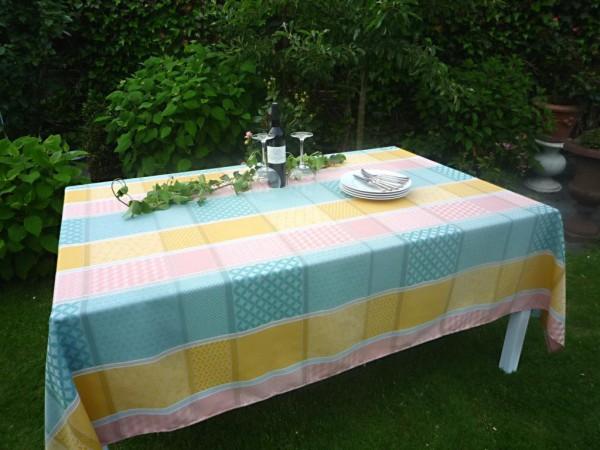 Der Charme eines Landhauses: Jacquard-Tischdecke Loire rosé-jaune – rosé-gelb