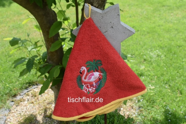 Rundhandtuch Provence 65 cm rund Flamant rouge - rot