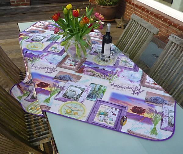 Tischdecke Provence 130x150 cm Lavendel flieder aus Frankreich
