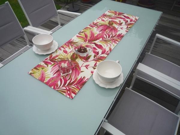 Indoor-Dschungel! – Energiegeladener Tischläufer Fleurette mit exotischem Flair