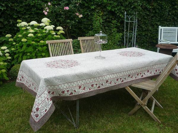 Extravagante Tischkultur – Hochwertige Gobelin-Tischdecke Filigran Rouge-rot