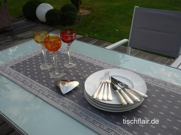 Lifestyle! – Eleganter Jacquard-Tischläufer Cigale in Anthrazit