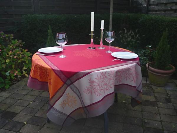 Tischdecke Provence 160x160 cm Baumwolle Jacquard Menton rouge