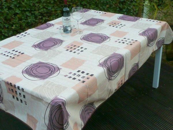 Tischdecke Provence 150x200 cm creme Kringelmuster aus Frankreich