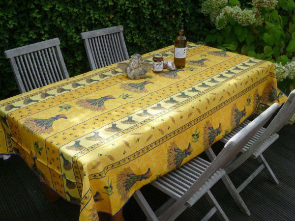 Tischdecke Provence 150x240 cm gelb Ährenmotive aus Frankreich