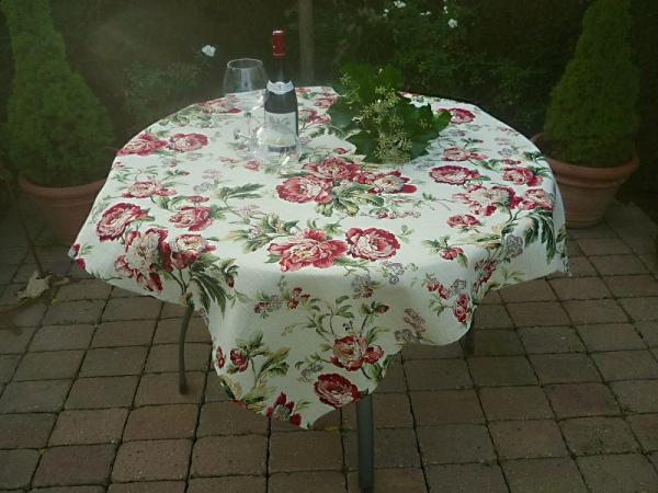 Vive la Rose! – Romantische Jacquard-Tischdecke Dubois