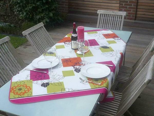 Tischdecke Provence 130x150 cm Blattmotive bunt aus Frankreich