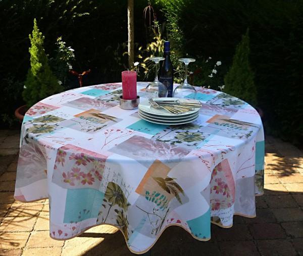 Luftige Leichtigkleit – Pflegeleichte Tischdecke in frischen Farben
