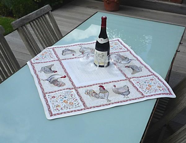 Cottage-Style - Provence Gobelin Jacquard Tischdecke creme Ferme
