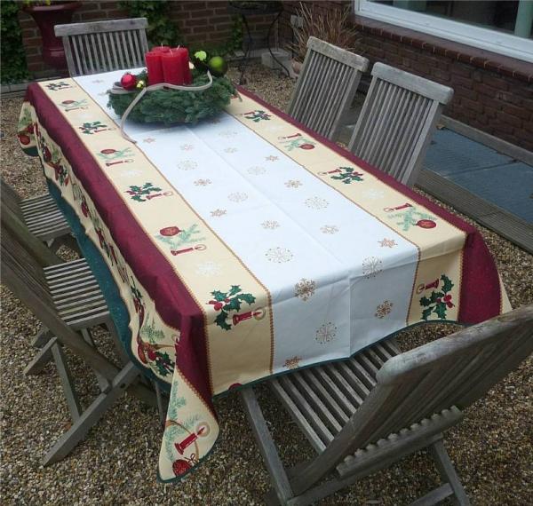 Weihnachten bittet zu Tisch! Festliche weihnachtliche Tischdecke