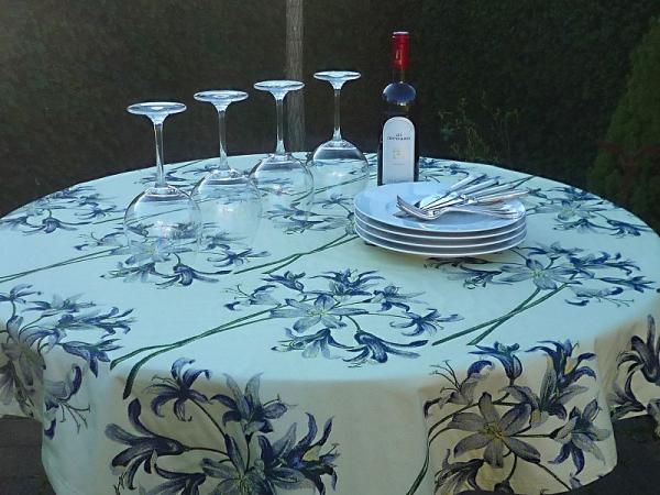 Tischdecke Jacquard champagner Provence 130x130 cm Lille Taft aus Frankreich