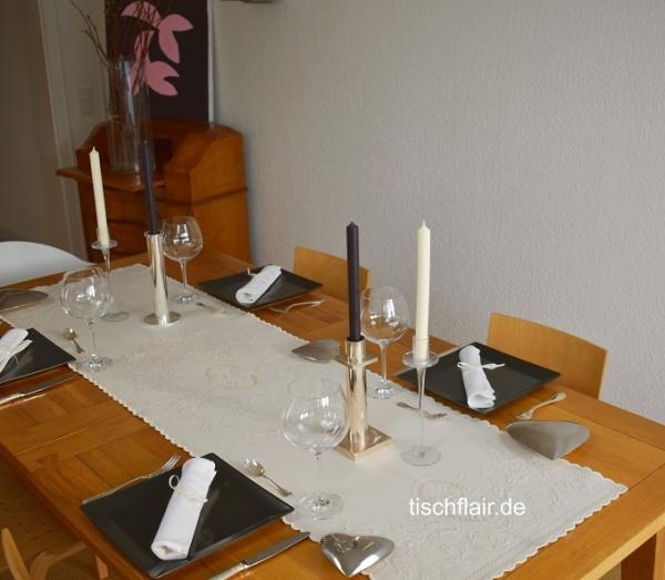 Ein bisschen Royale...! – Baumwoll-Tischläufer Granville