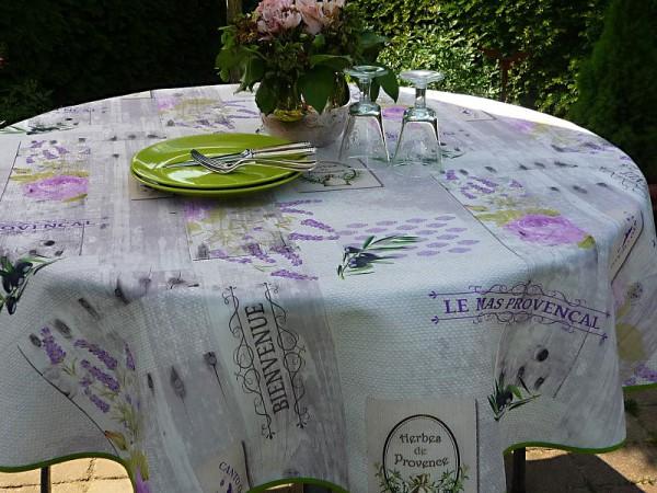 Provence – Savoir-vivre: Pflegeleichte Tischdecke mit Oliven und Lavendel