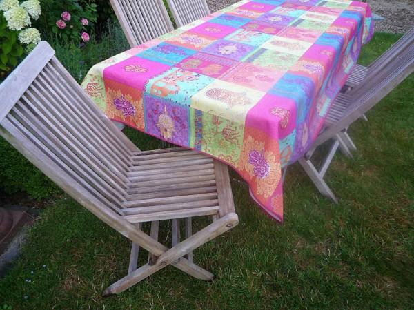 Tischdecke Provence 150x300 cm pink türkis Ornamentmotiv aus Frankreich