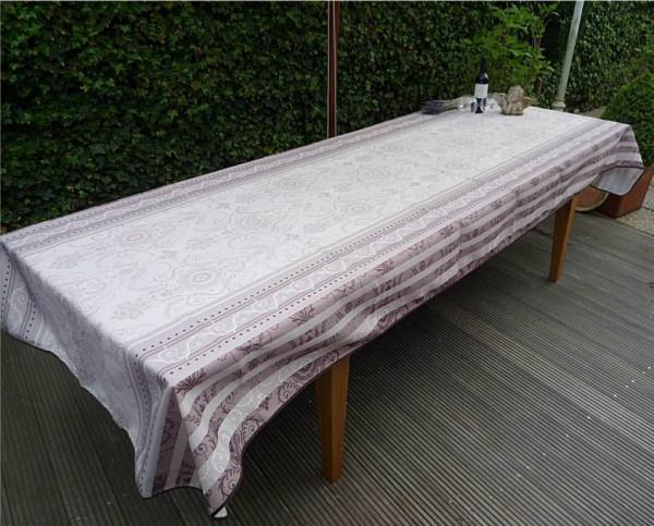 Tischdecke Provence 150x350 cm creme grau Ornamentmotiv aus Frankreich