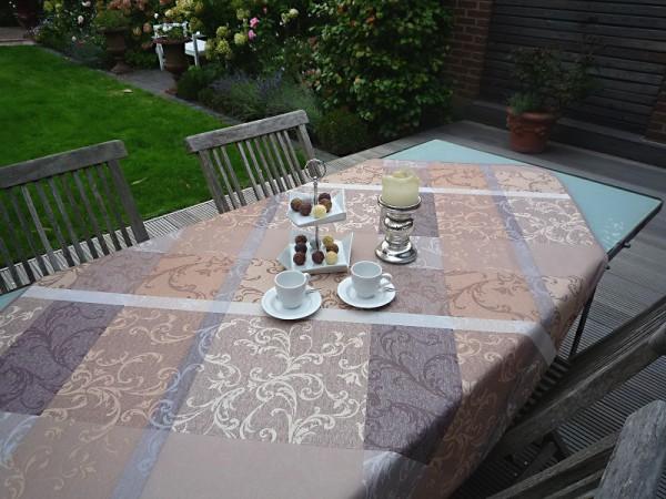 Tischdecke Provence 120x150 cm beige Ornamentmotiv aus Frankreich