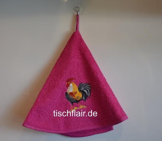 Rundhandtuch Provence 70 cm rund Le Coq pink