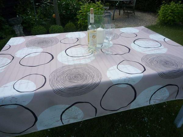 Tischdecke Provence 150x200 cm beige Kreismuster aus Frankreich