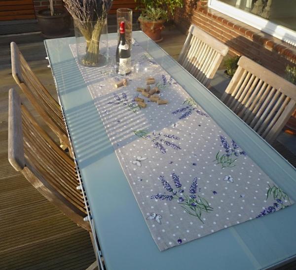Tischläufer Baumwolle natur 50x170 cm Papilotte lin aus Frankreich Provence
