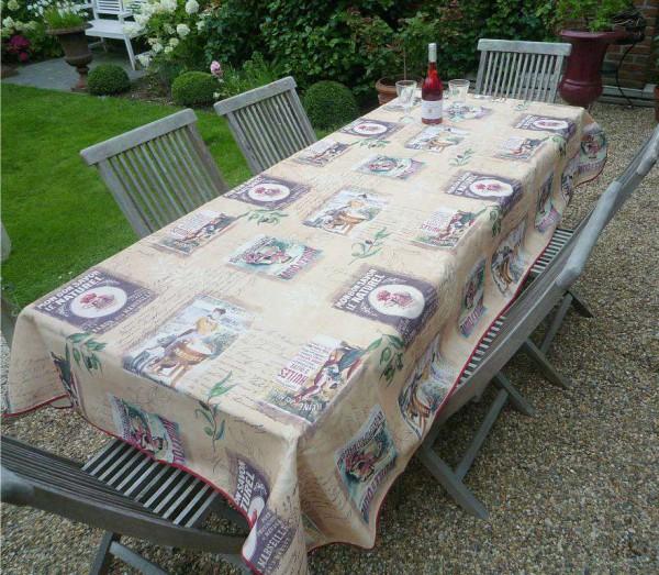 Tischdecke Provence 150x240 cm sand Retromotive aus Frankreich