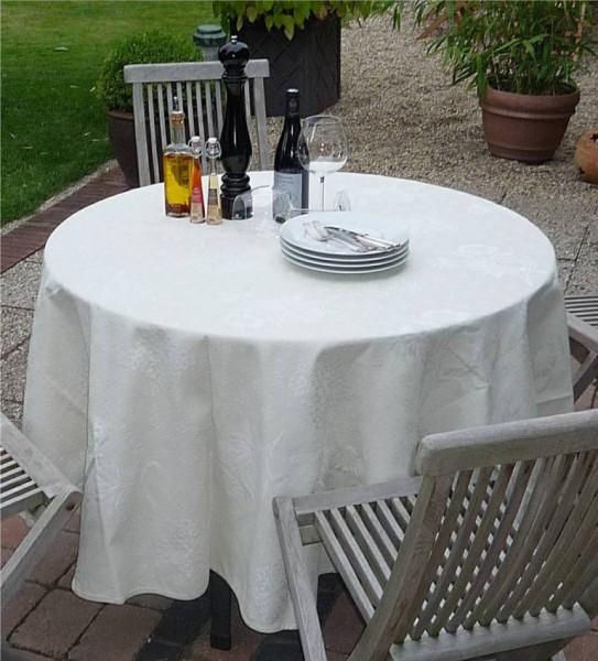Creme-Ecru - immer ein Klassiker – Feine Matelassé-Tischdecke Leroy Ecru
