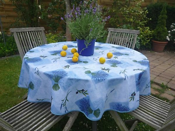 Lavande, Lavande....! Pflegeleichte Tischdecke mit herrlichen Lavendelsträußen