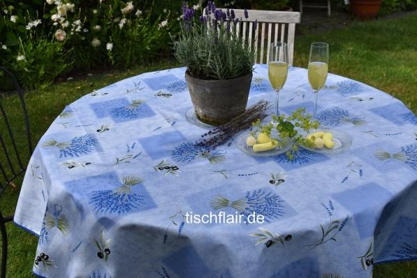 Lavendel, Lavendel....! Vinylbeschichtete Tischdecke mit herrlichen Lavendelsträußen