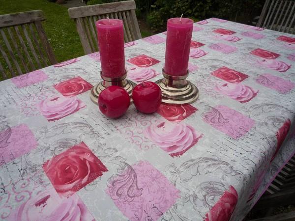 Rosentraum! – Romantische Tischdecke in Rosé und Pink - pflegeleicht