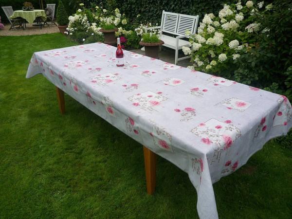 Tischdecke Provence 150x300 cm grau Rosenmotive aus Frankreich