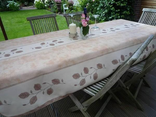 Tischdecke Provence 150x350 cm beige Rankenmotiv aus Frankreich
