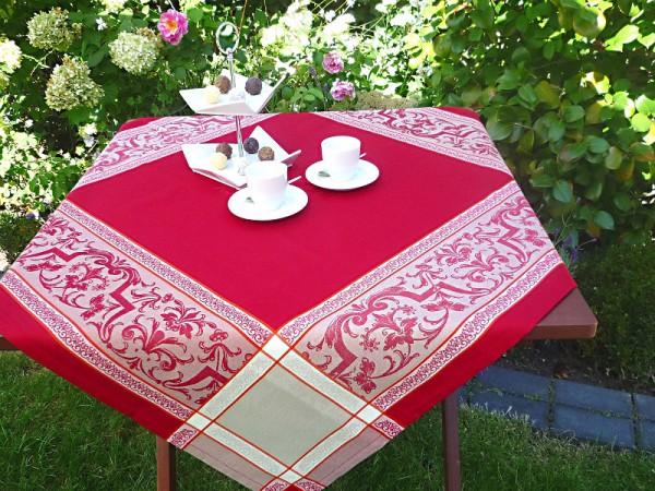 Auffällige Akzente in Rot! – Stilvolle Tischdecke Mireille Rouge-rot