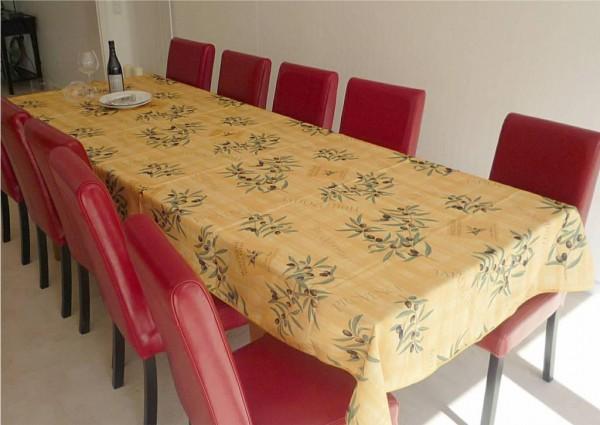 Tischdecke Provence 150x300 cm gelb Olivenmotive aus Frankreich