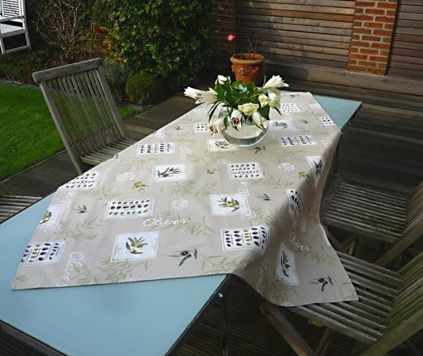 Tischdecke Provence Baumwolle 120x155 cm Olivado lin aus Frankreich