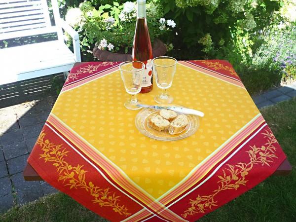 French Style... - Tischdecke Jacquard gelb Laurin jaune