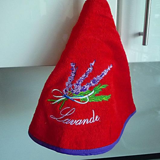Rundhandtuch Provence 70 cm rund Lavande rouge