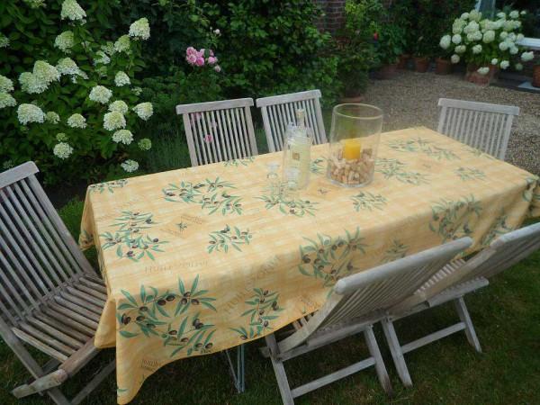 Tischdecke Provence 150x200 cm gelb Olivenmotive aus Frankreich
