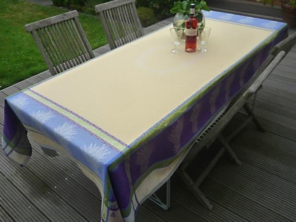 Tischdecke Provence 160x250 cm Baumwolle Jacquard Gordes creme