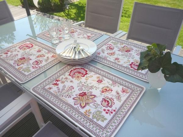 Volle Pracht voraus! – Hochwertiges Jacquard Tischset Gardanne jaune rouge