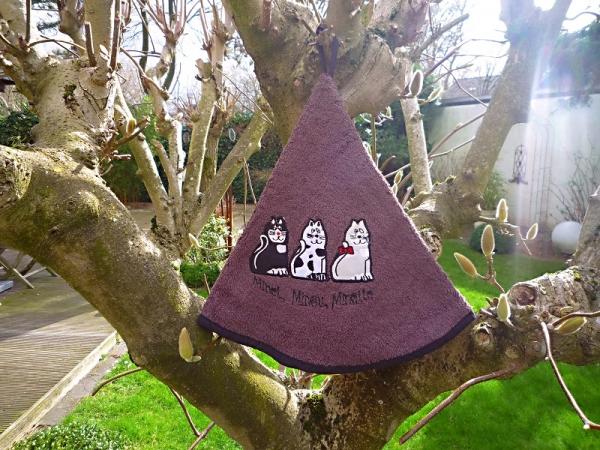 Rundhandtuch Provence 70 cm rund Chats marron