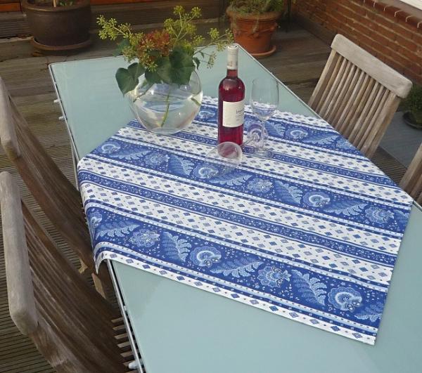 Tischdecke Baumwolle blau 90x90 cm Vilaine bleu aus Frankreich Provence