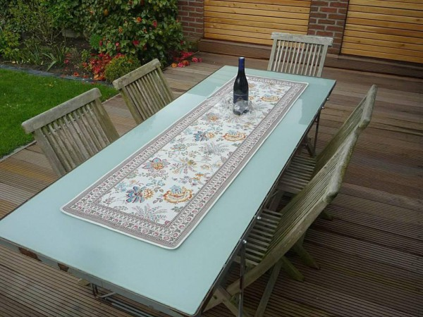 Tischläufer Provence 50x170 cm Jacquard Gardanne jaune bleu Gobelin-Art