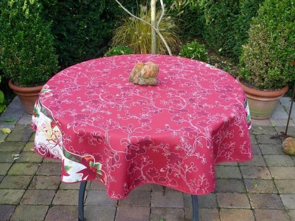 Tischdecke Provence 160 cm rot Weihnachten aus Frankreich