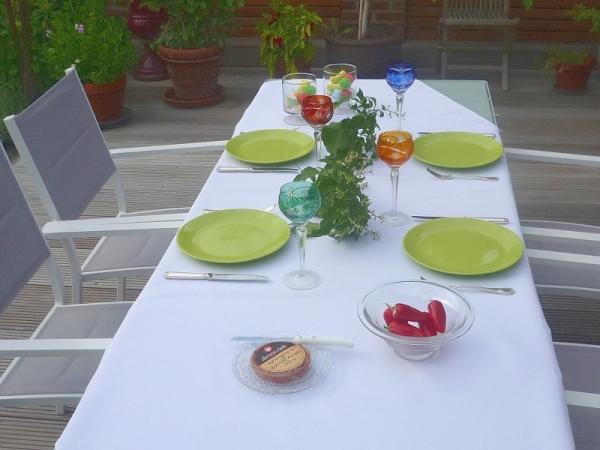 Heiß in Weiß! – Pflegeleichte Tischdecke