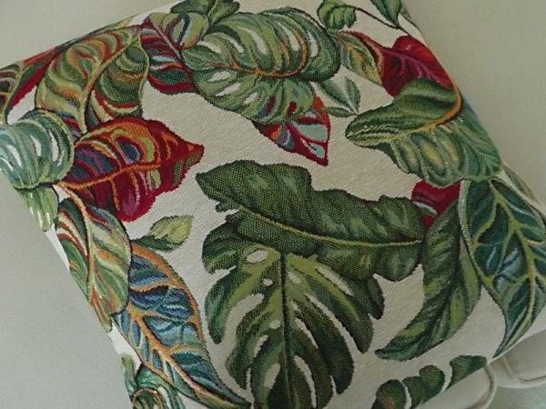 Kissenhülle Jacquard Gobelin grün 40x40 cm Collete aus Frankreich Provence