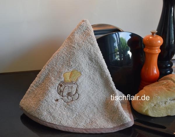Rundhandtuch Provence 65 cm rund Toaster beige