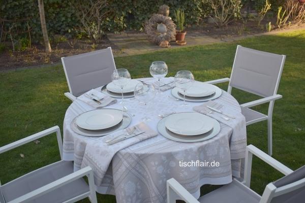 Faible für Helles! – Jacquard-Tischdecke Lagrange lin-creme-beige