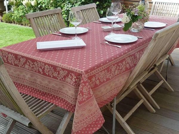 Tischdecke Provence 160x250 cm Jacquard Cigale rouge