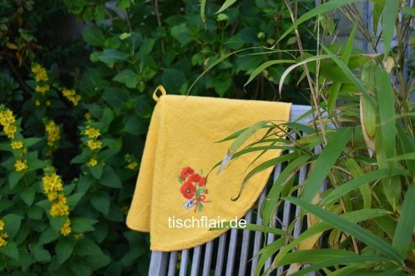 Rundhandtuch Provence 70 cm rund Coquelicot jaune - gelb